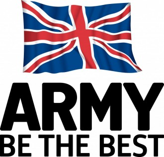 Army be the best logo black